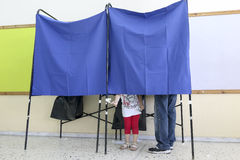 Greeks vote in bailout referendum Royalty Free Stock Photos
