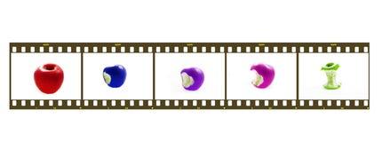 Greem apple. Apple; autumn; diet; drew; drop; eat; fall; fruit; green; vitamin; eat; slimming; dieting; to slim; to diet; make lean; slenderize; bite; seed; end stock image
