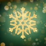Greem borrou luzes do bokeh para a celebração do Natal e do ano novo Molde mágico com fundo glittery e ilustração do vetor