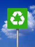 green återanvänder tecken arkivfoton