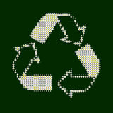 green återanvänder white royaltyfria bilder
