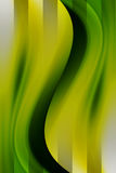 Green. Dynamic green waves, abstract illustration. empty to insert text or design Royalty Free Stock Photography