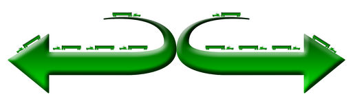 Green 18 wheeler trucks logo Stock Photos