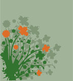 Green. Work with vectors illustration Stock Photo
