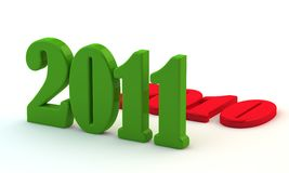 Green 2011 replaces last 2010 Stock Photo