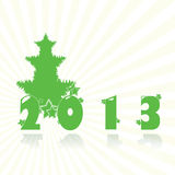 Green 2013. New year  eps10 illustration Stock Image