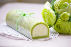 Green. Apple mint mousse japanese macha stock image