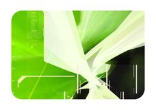 Green 3d abstract composition Stock Image