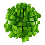 Green 3D abstraction. Green 3D sphere abstraction with modern design Stock Photo