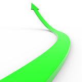 Green 3d arrow up. Computer generated image Stock Photography