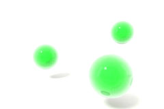Green 3d balls Stock Photos