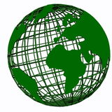 Green 3d globe Royalty Free Stock Images