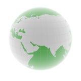 Green 3d globe Stock Image