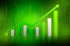 Green 3d graph Stock Images