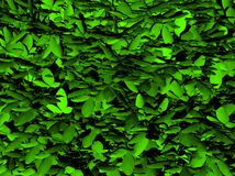Green 3d leaves Stock Photos