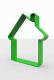 Green 3D sign of house Royalty Free Stock Photography