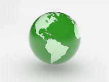 Green 3d world globe Stock Images