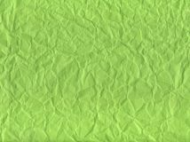 Green. A green background of wrinkled paper Royalty Free Stock Photos