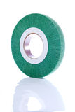 Green, abrasive wheel Royalty Free Stock Photo