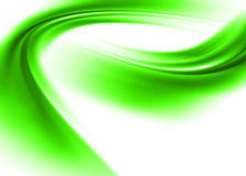 Green abstract. Green asbtract composition with flowing design royalty free illustration