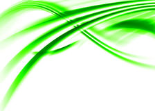 Green abstract. Green asbtract composition with flowing design stock illustration
