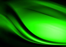 Green abstract. Composition with flowing design vector illustration