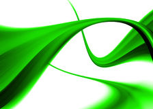 Green abstract. Composition with flowing design stock illustration