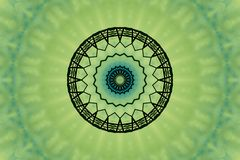 Green abstract. With patterned center Royalty Free Stock Photos