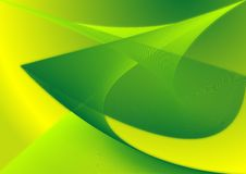 Green Abstract. An abstract art piece created from lines to form waves of green and yellow gradients Stock Images