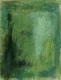 Green Abstract. Green painted abstract with deep textures and hues Royalty Free Stock Image