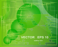Green abstract background. Eps 10 Stock Image