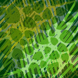 Green abstract background. Stylized leaves on a dark green background royalty free illustration