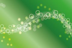 Green abstract background. Abstract background with circles and green gradients Vector Illustration