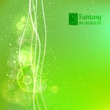Green abstract background. Vector illustration, contains transparencies, gradients and effects Vector Illustration