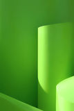 Green abstract background. Lines and light Stock Images