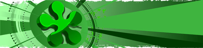Green Abstract Background 3D Stock Images