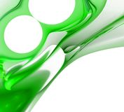 Green abstract background. Green 3D rendered abstract background Stock Photo