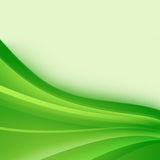Green abstract background. Abstract background of wavy green strips Stock Photo