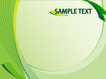 Green abstract background. Vector illustration with space for text Royalty Free Stock Photos