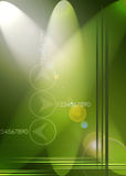 Green Abstract background. A green based abstract background with light direction and reflections Stock Photo