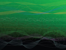 Green Abstract Background. Green water abstract background with waves and lines Royalty Free Illustration