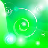 Green abstract background. A green abstract background with artistic white designs stock illustration