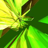Green abstract background. Green abstract ray-trace background stock illustration
