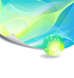 Green Abstract Background. With free space for text, Vector illustration Stock Photo