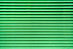 Green abstract background of air vent in horizontal pattern Stock Photography