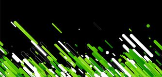 Green abstract background on black. Vector paper illustration Stock Photography