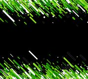 Green abstract background on black. Vector paper illustration Stock Photos