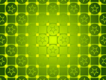 Green abstract background, circles and squares, stars Royalty Free Stock Images