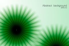 Green abstract background with circular elements. Vector vector illustration
