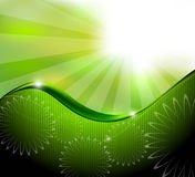 Green abstract background composition Stock Photos